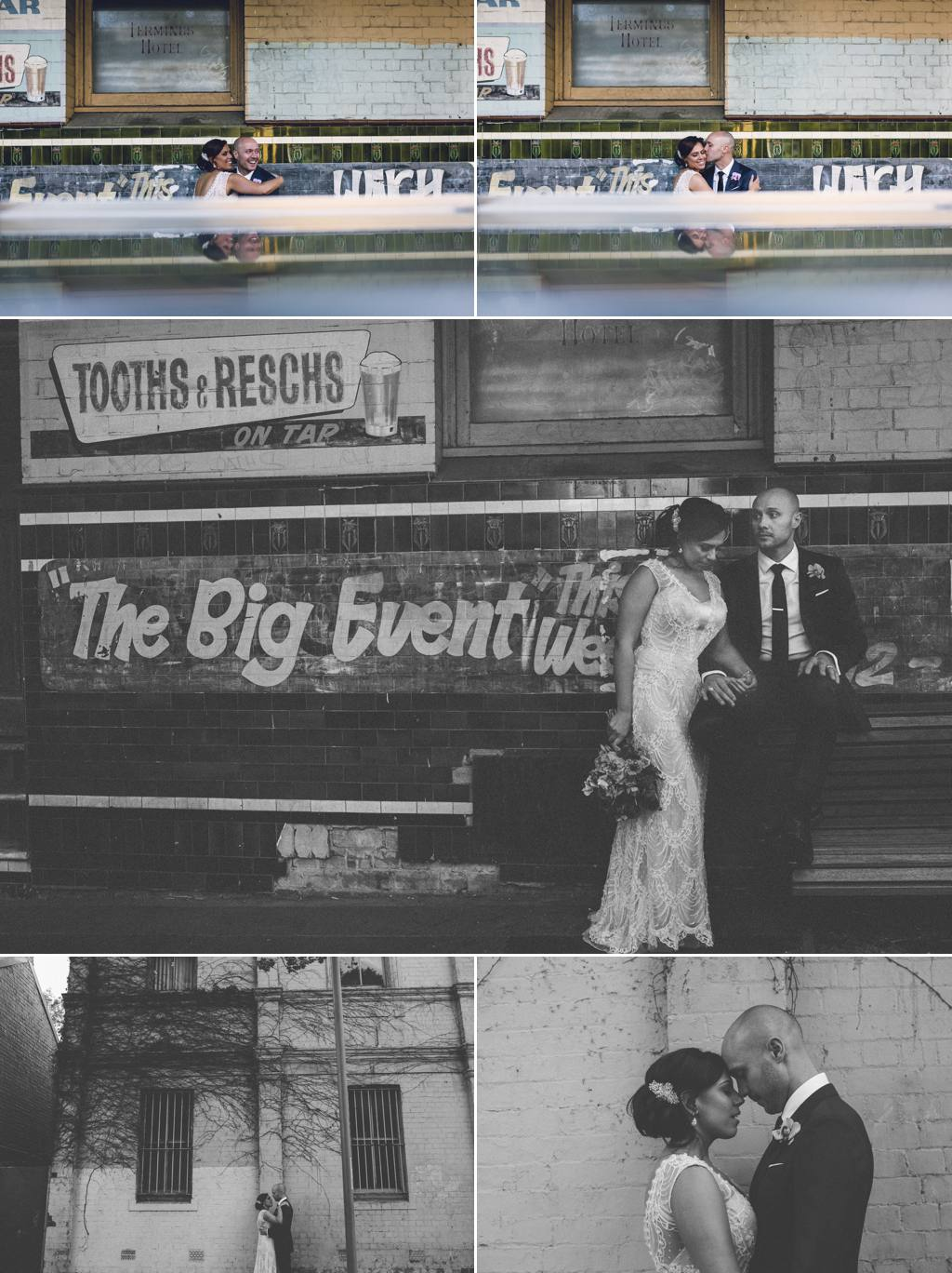 Bride and groom big event