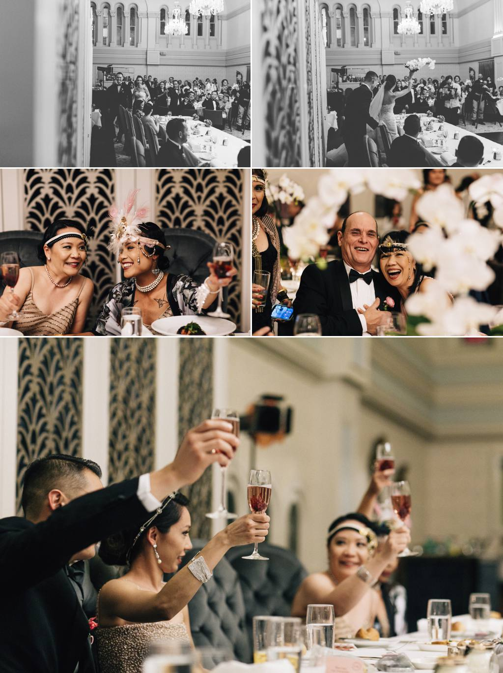QVB tea rooms wedding reception Tea Rooms Queen Victoria Building Sydney Wedding Julia + Ken